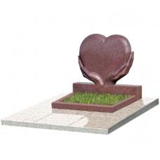 Горизонтальные памятники с сердцем (2)