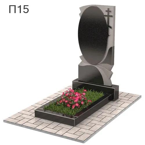 Зеркало с крестом вертикальный памятник П15