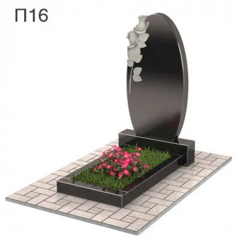 Зеркало с розами вертикальный памятник П16