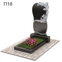 Сердце с розами вертикальный памятник П18