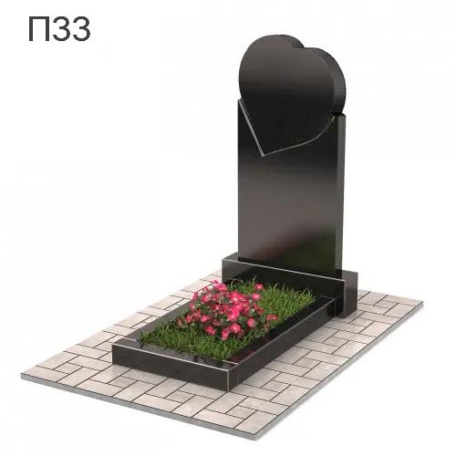 Сердце вертикальный памятник П33