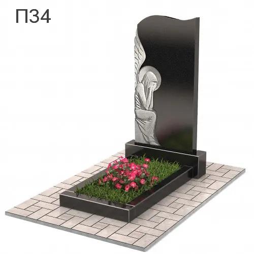 Скорбящий ангел вертикальный памятник П34