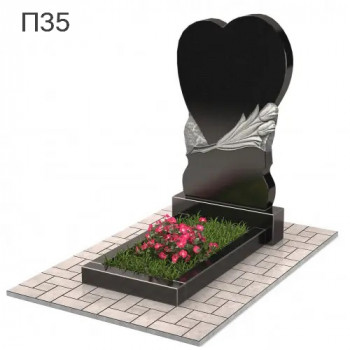 Широкое сердце вертикальный памятник П35