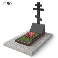 Восьмиконечный крест на голгофе вертикальный памятник П60