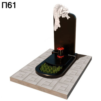 Ангел с розами вертикальный памятник П61