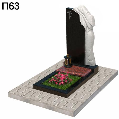 Скорбящая дева вертикальный памятник П63