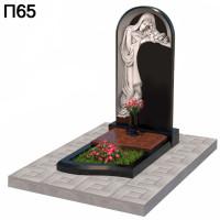 Скорбящая с розами в арке вертикальный памятник П65