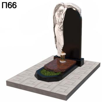 Скорбящая дева с крыльями вертикальный памятник П66