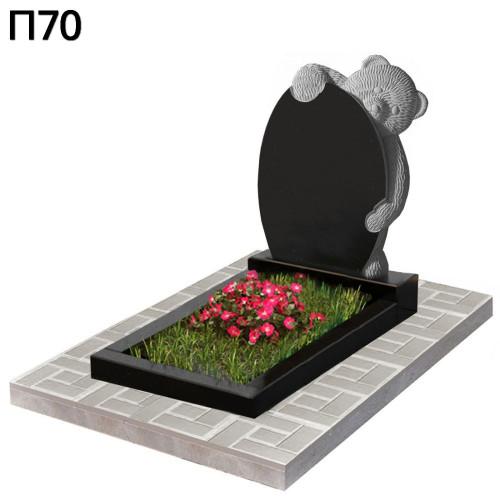 Мишка детский вертикальный памятник П70