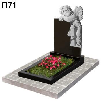 Ангел детский вертикальный памятник П71
