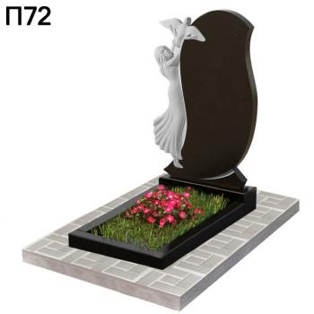 Ангел с голубем детский вертикальный памятник П72