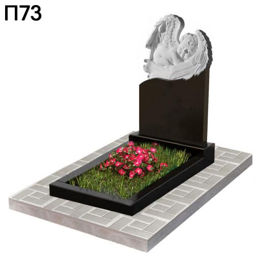 Спящий ангел детский вертикальный памятник П73