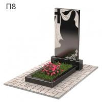 Плащаница с крестом вертикальный памятник П8