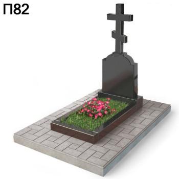 Крест на галгофе вертикальный памятник П82