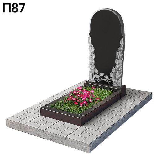 Купить Вертикальный памятник розы П87