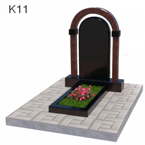 Комбинированный памятник арка из двух видов гранита К11