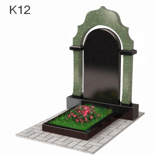 Комбинированный памятник арка из двух видов гранита К12