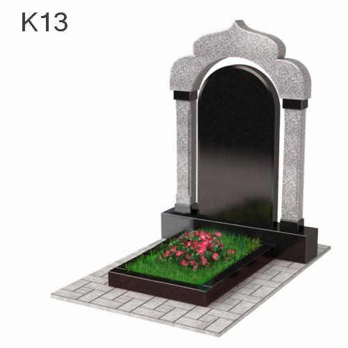 Комбинированный памятник арка из двух видов гранита К13