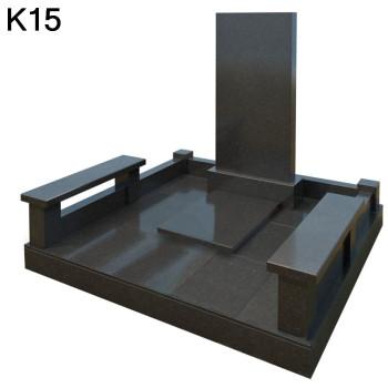 Классический мемориальный комплекс из черного карельского гранита К15