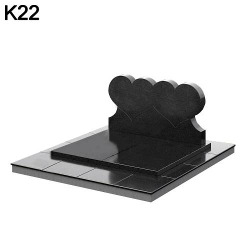 Мемориальный комплекс из черного карельского гранита К22