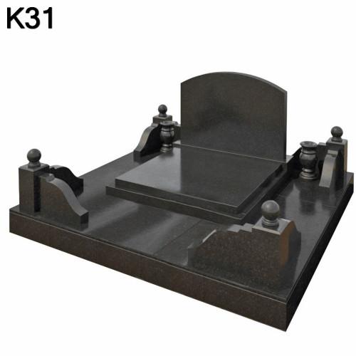 Классический мемориальный комплекс из черного карельского гранита К31