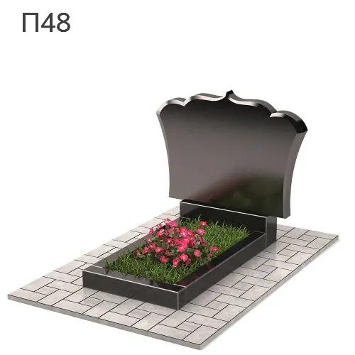 Фигурный-3 горизонтальный памятник П48