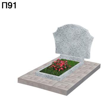 Фигурный горизонтальный памятник П91